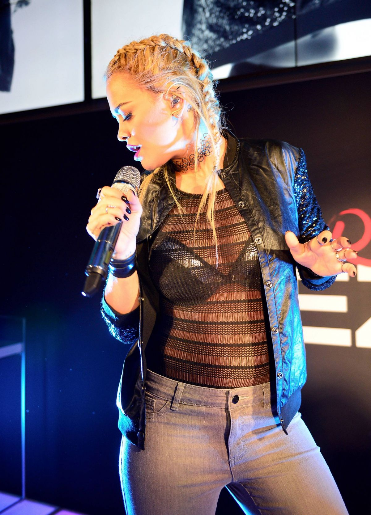RITA ORA at Tezenis Campaign Launch Party in Frankfurt Am Main 10/28/2015