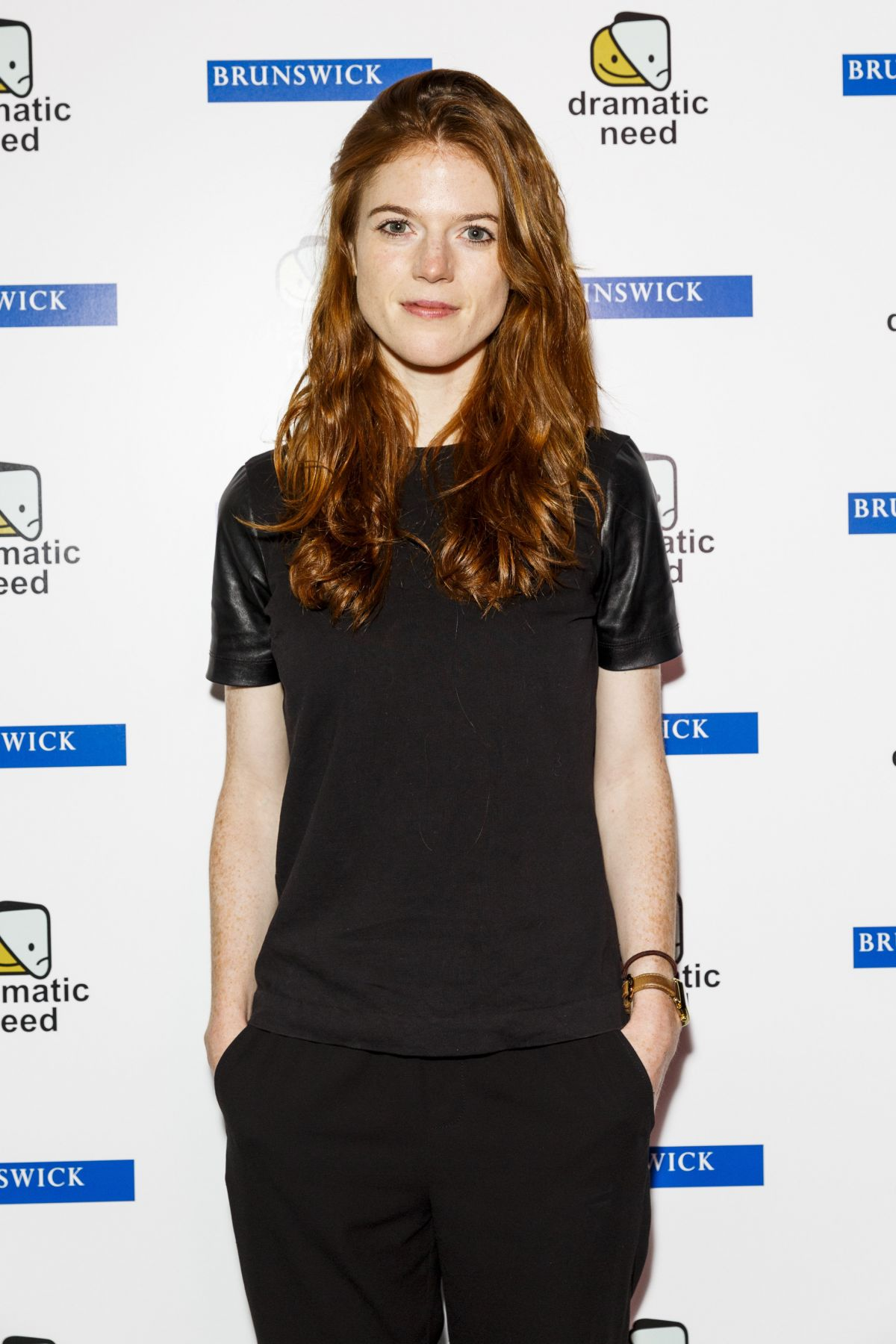 ROSE LESLIE at The Children's Monologues Charity Event in ...