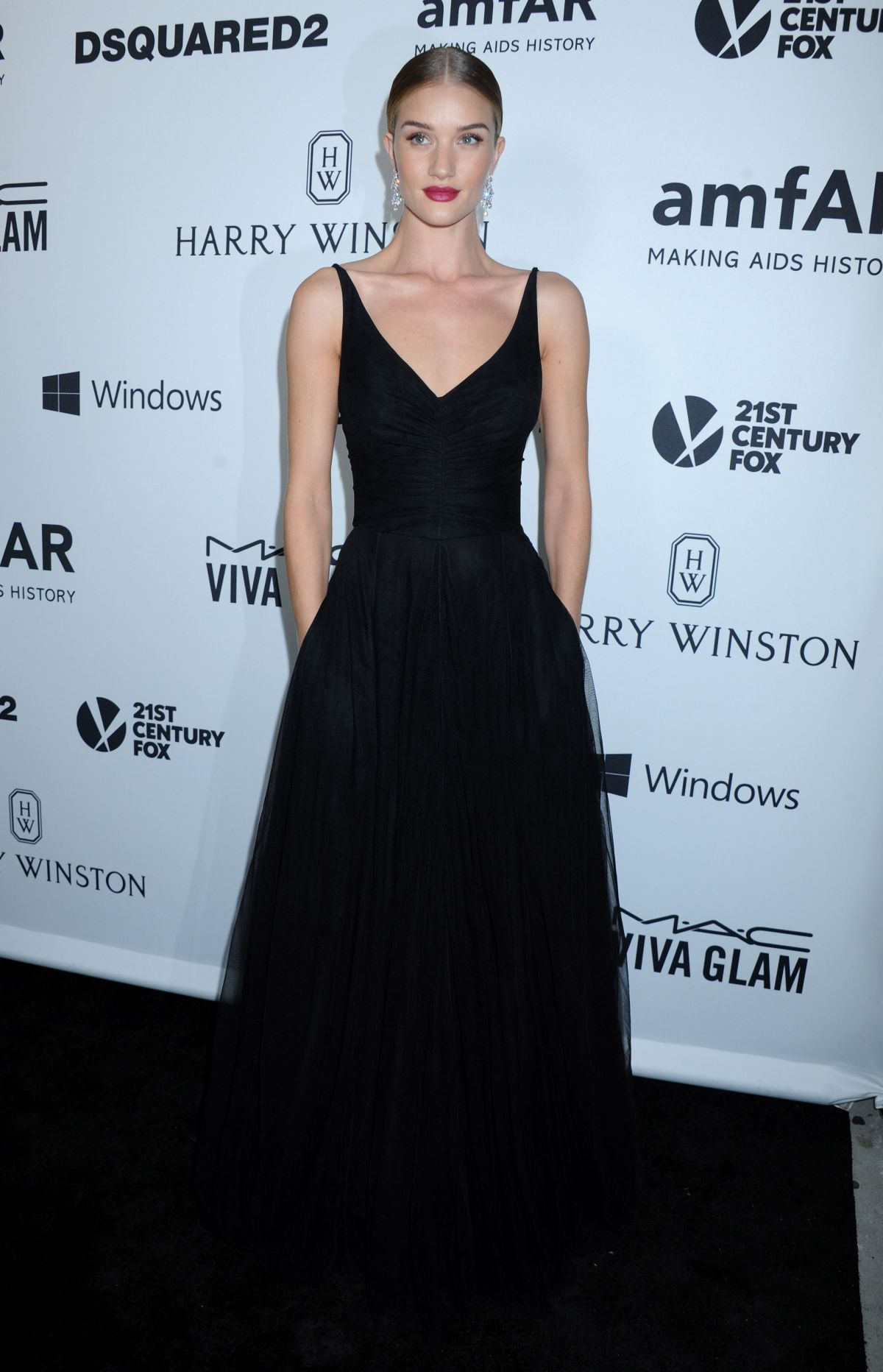 ROSIE HUNTINGTON-WHITELEY at amfAR