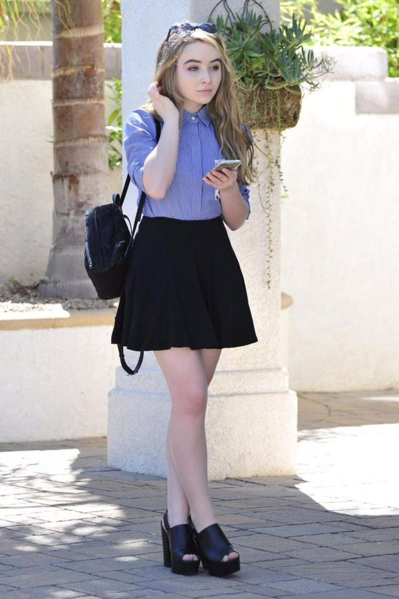 SABRINA CARPENTER Out and About 10/05/2015 - HawtCelebs ...