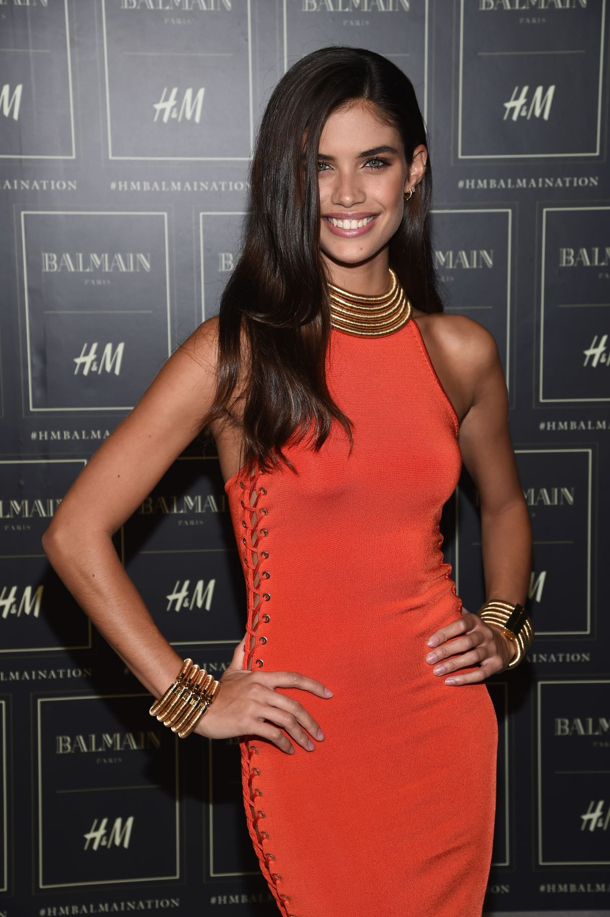 SARA SAMPAIO at Balmain X H&M Collection Launch in New York 10/20/2015