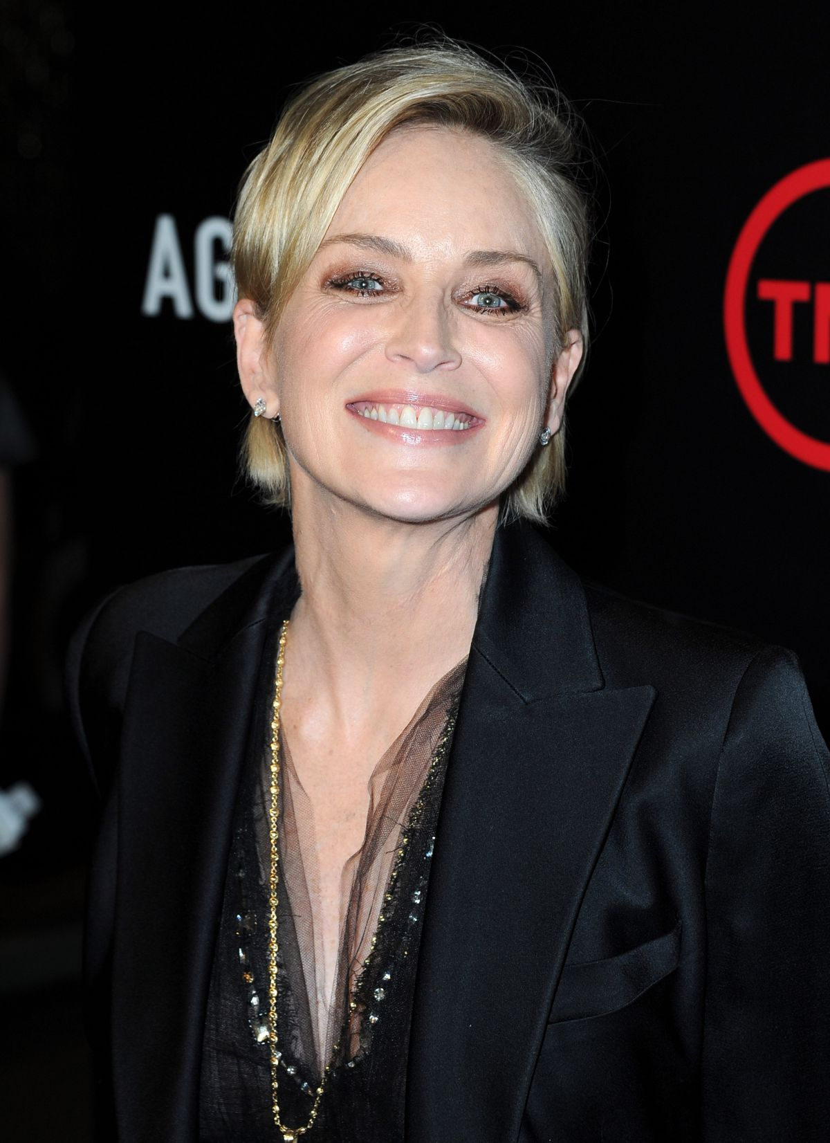 SHARON STONE at Agent X Premiere in West Hollywood 10/20/2015