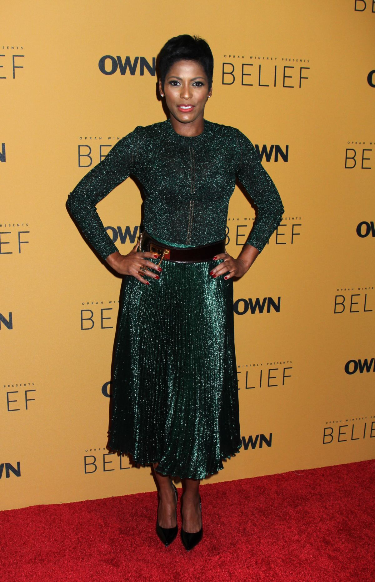 TAMRON HALL at Belief Premiere in New York 10/14/2015