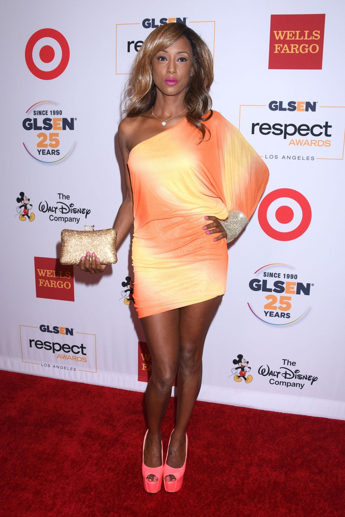 TRINA MCGEE at 2015 glsen Respect Awards in Beverly Hills 10/23/2015