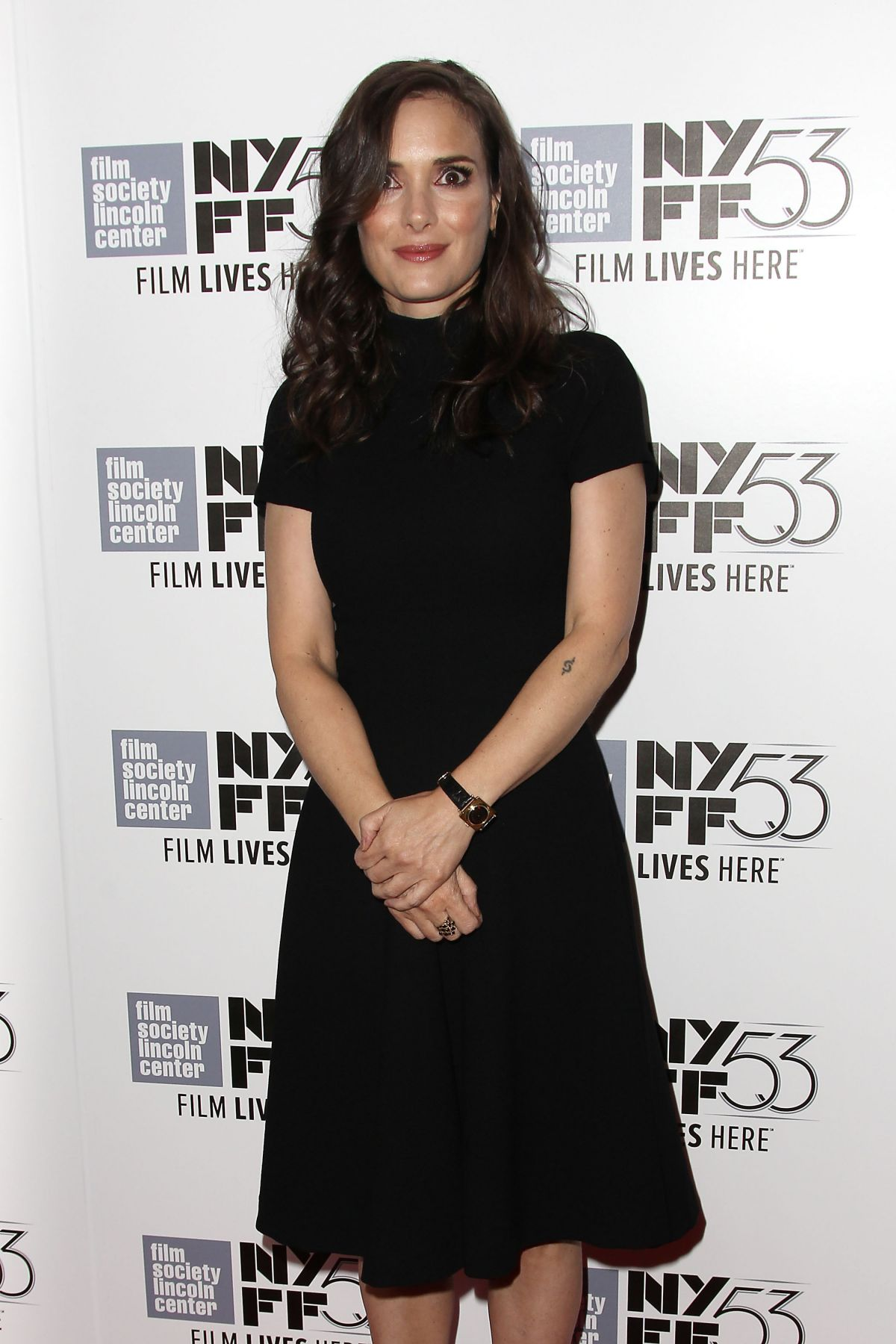 WINONA RYDER at Experimenter Premiere at 53rd New York Film Festival 10/06/2015