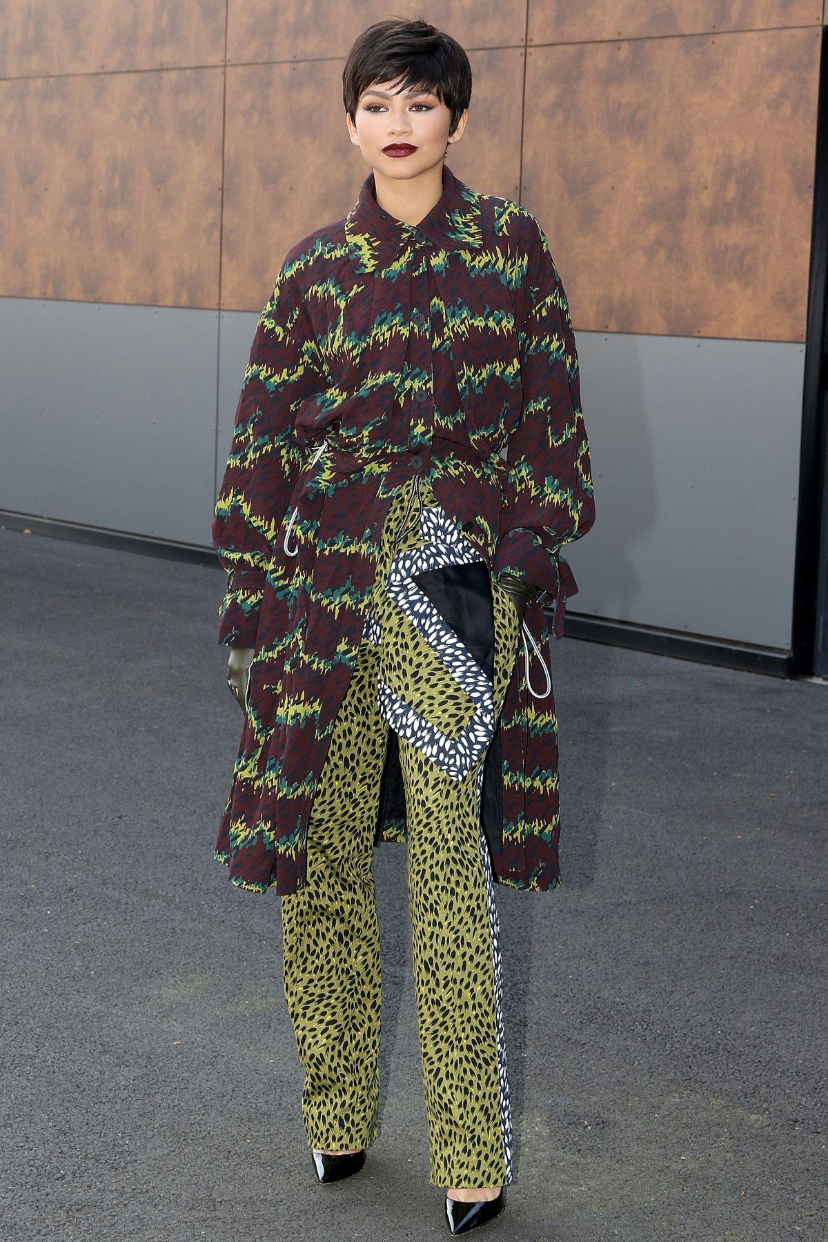 ZENDAYA at Kenzo Fashion Show at Paris Fashion Week 10/04/2015