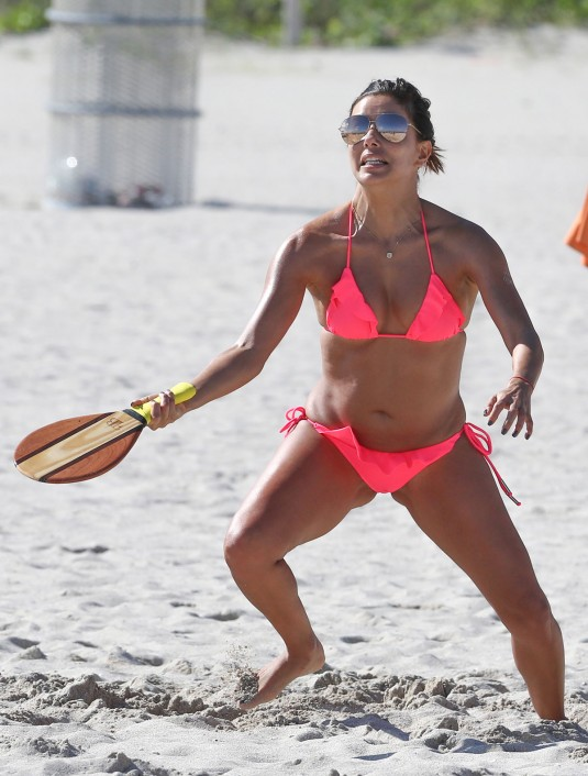 EVA-LONGORIA-in-Bikini-at-a-Beach-in-Miami-26