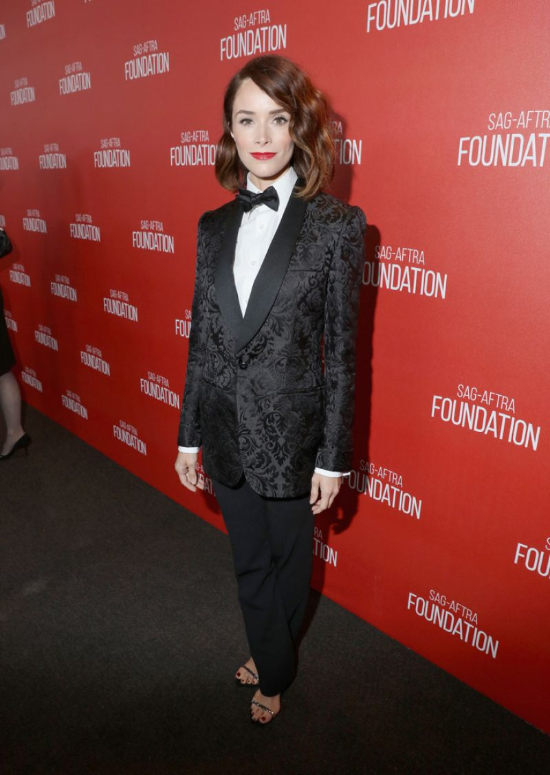 ABIGAIL SPENCER at SAG Foundation 30th Anniversary Celebration in Beverly Hills 11/05/2015