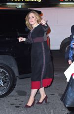 ADELE Arrives at Her Hotel in New York 11/23/2015