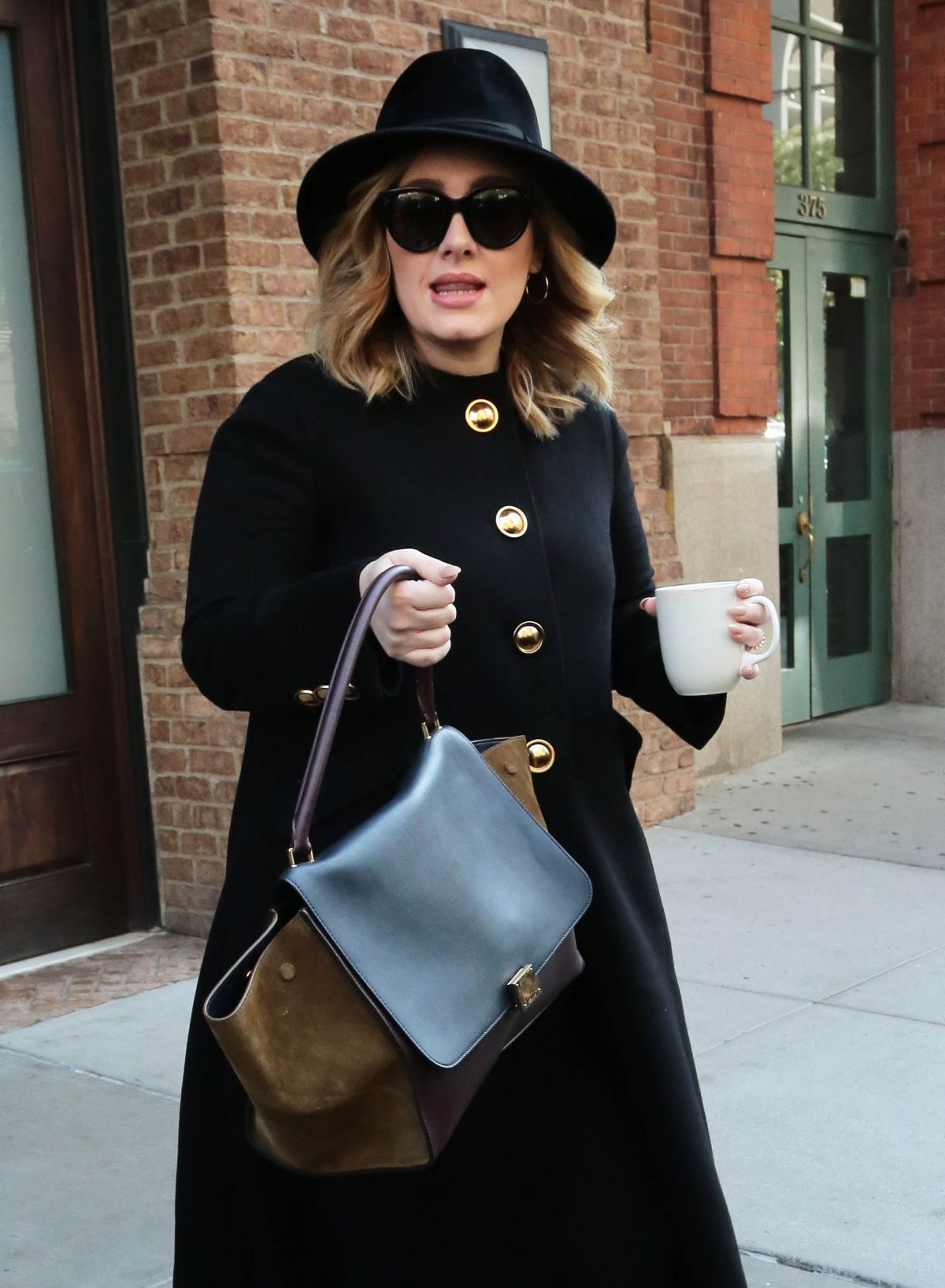 ADELE Out and About in New York 11/24/2015