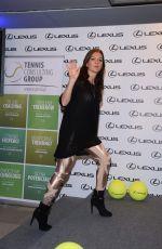 AGNIESZKA RADWANSKA at Press Conference After Winning a WTA Final in Singapore 11/04/2015
