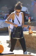 ALESSANDRA AMBROSIO at a Pumpkin Patch in Los Angeles 10/31/2015