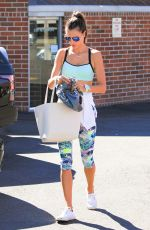 ALESSANDRA AMBROSIO in Tank Top and Leggings Out in Beverly Hills 11/06/2015