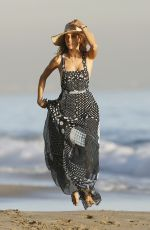 ALESSANDRA AMBROSIO on the Set of a Photoshoot at a Beach in Malibu 11/20/2015