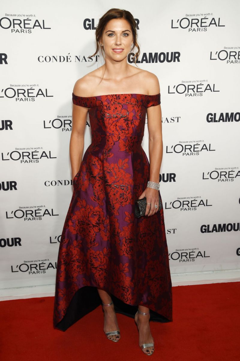 ALEX MORGAN at Glamour's 25th Anniversary Women of the Year Awards in New York 11/09/2015