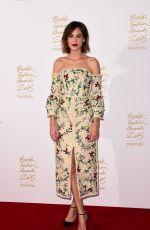 ALEXA CHUNG at 2015 British Fashion Awards in London 11/23/2015