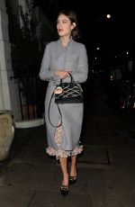 ALEXA CHUNG at Villoid x ELLE Dinner at South Kensington Club in London 11/05/2015