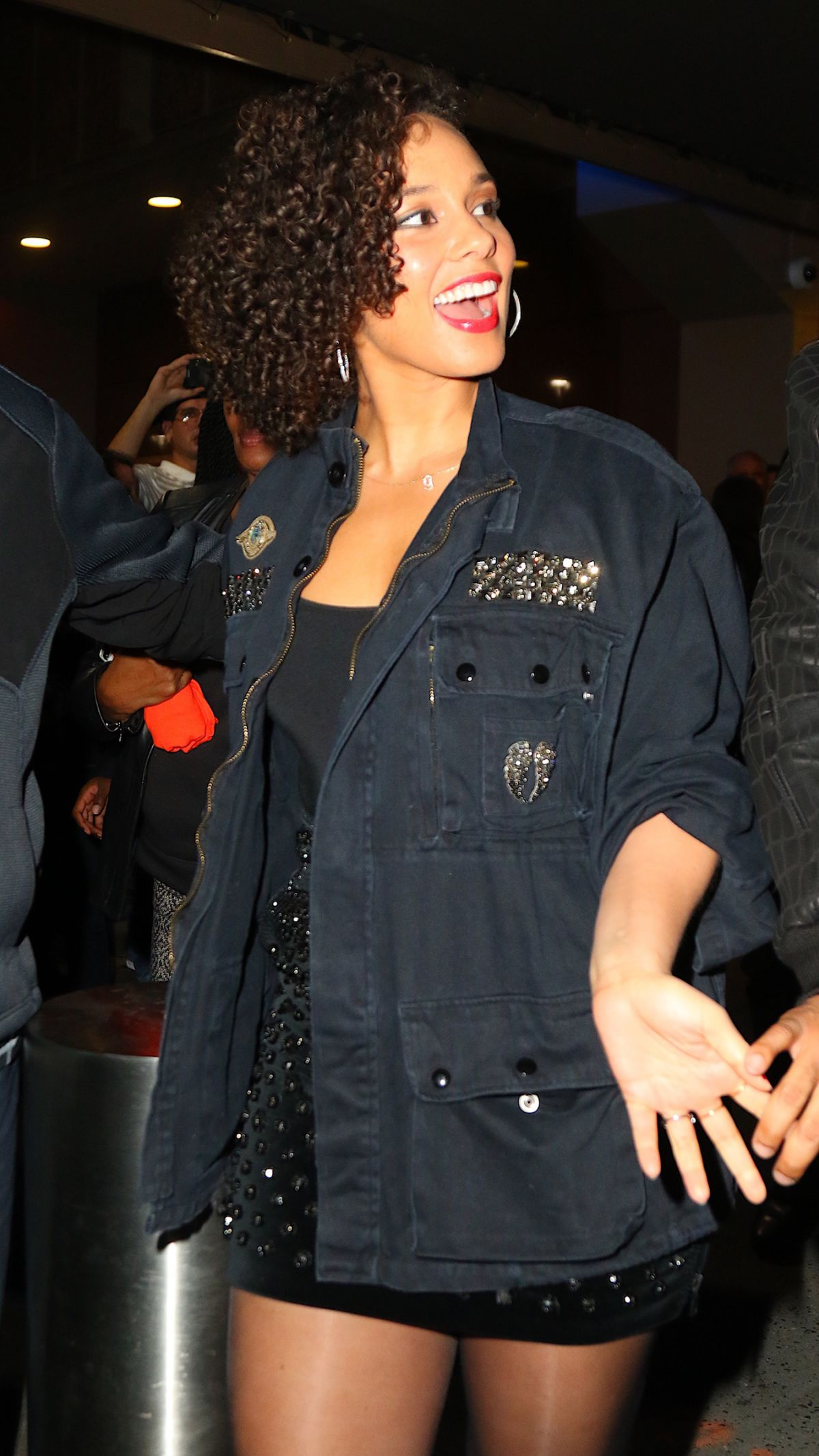ALICIA KEYS Arrives to The Musket Room for Dinner in Soho 11/27/2015