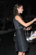 ALICIA VIKANDER Arrives at Chateau Marmont in Los Angeles 11/21/2015