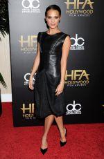 ALICIA VIKANDER at 2015 Hollywood Film Awards in Beverly Hills 11/01/2015