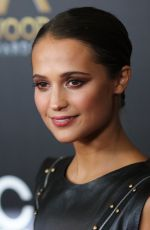 ALICIA VIKANDER at 2015 Hollywood Film Awards in Beverly Hills 11/01/2015
