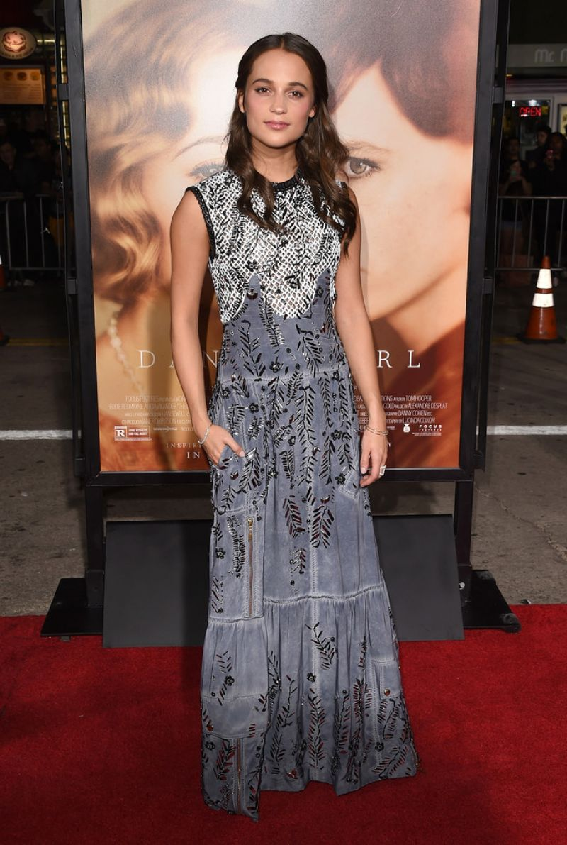 ALICIA VIKANDER at The Danish Girl Premiere in Westwood 11/21/2015