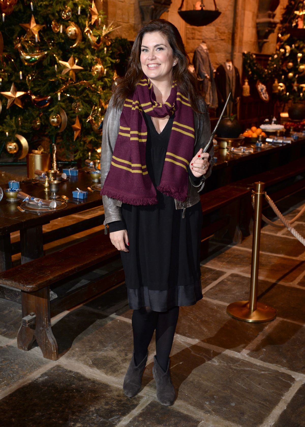 AMANDA LAMB at Hogwarts in the Snow Launch at Warner Bros. Studio Tour London in Watford 11/12/2015