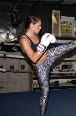 AMANDA RIGHETTI Boxing at a Gym in Santa Monica 11/13/2015