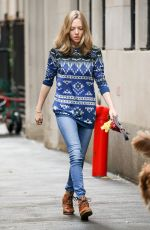 AMANDA SEYFRIED anf Finn Out and About in New York 11/07/2015