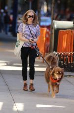 AMANDA SEYFRIED Out with Finn in New York 11/04/2015