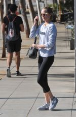 AMBER VALLETTA in Leggings Heading to a Gym in Los Angeles 11/27/2015