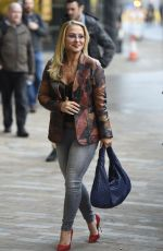 ANASTACIA Arrives at BBC Breakfast in Manchester 11/04/2015