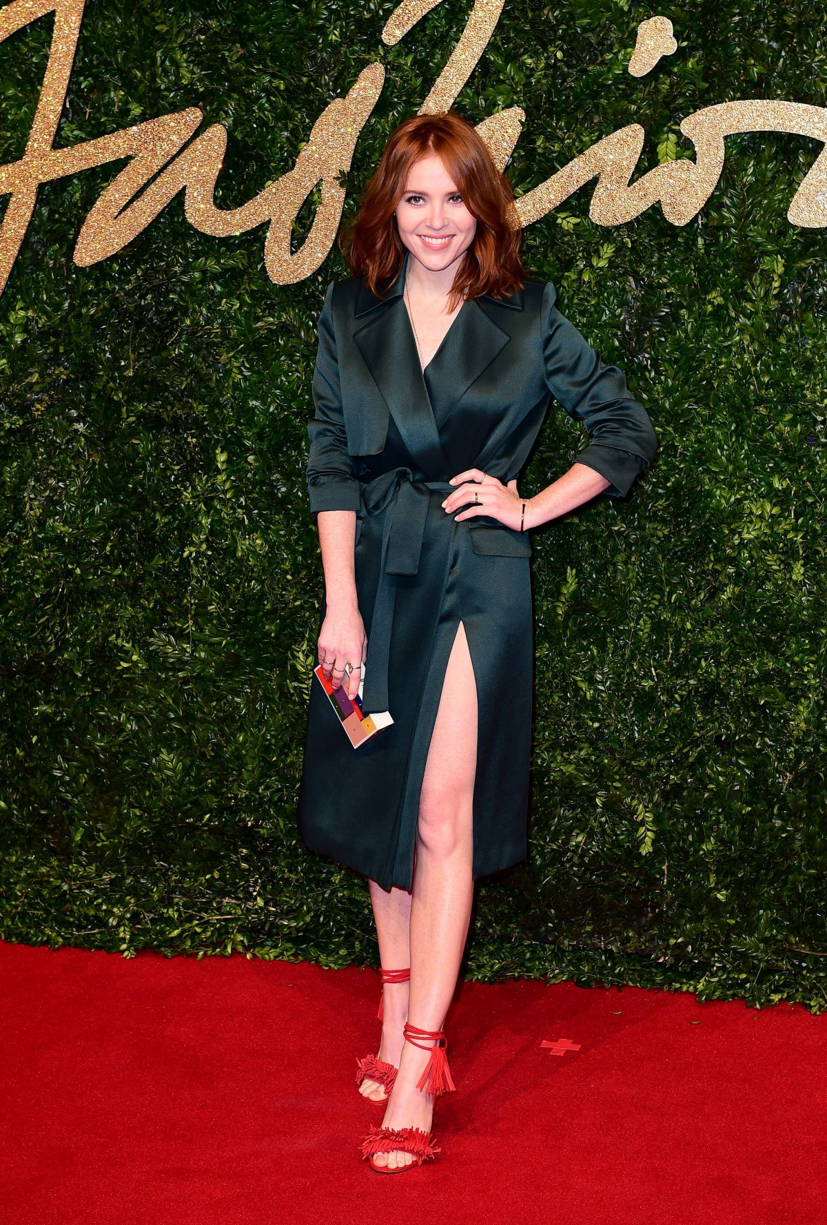 ANGELA SCANLON at 2015 British Fashion Awards in London 11/23/2015