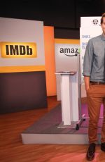 ANNA CAMP on the Set of Her Live Interview with Amazon and IMDB in New York 11/17/2015