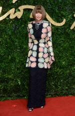ANNA WINTOUR at 2015 British Fashion Awards in London 11/23/2015
