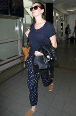 ANNE HATAWAY at Los Angeles International Airport 11/06/2015