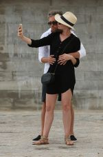 ANNE HATHAWAY Exploring the Historic Old Town of Ibiza Dalt Villa 11/29/2015