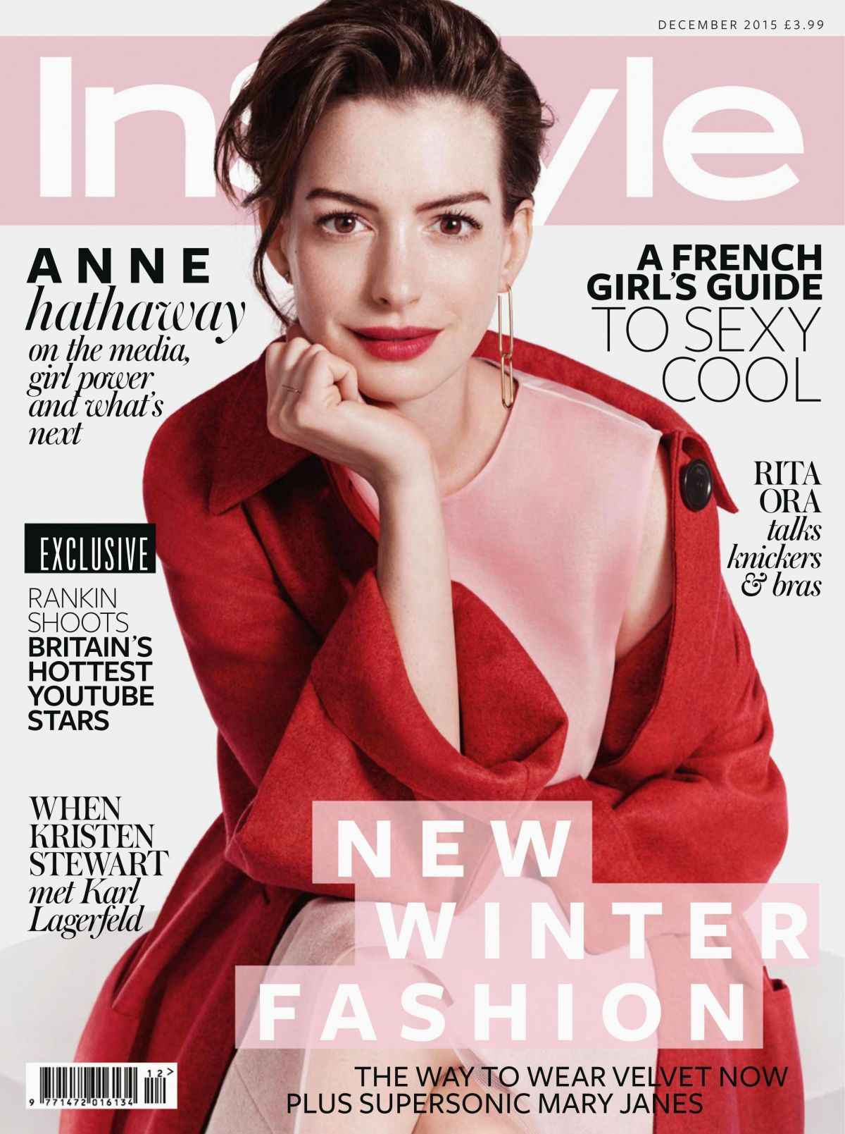 Instyle Magazine Us: ANNE HATHAWAY In Instyle Magazine, UK December 2015 Issue