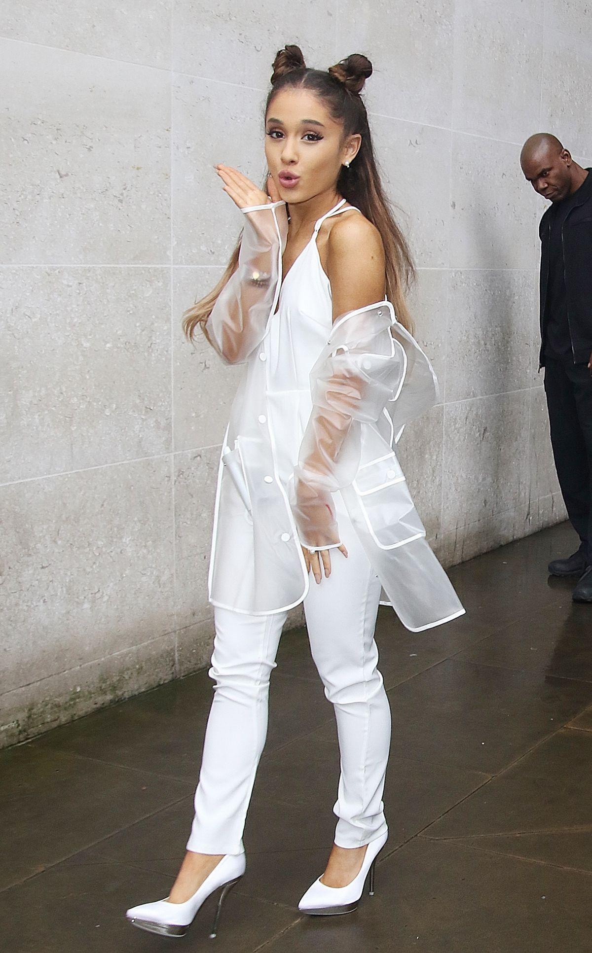ARIANA GRANDE Arrives at BBC 1 Studios in London 11/04/2015