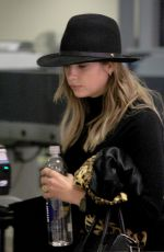 ASHLEY BENSON at at TSA Checkpoint at LAX Airport in Los Angeles