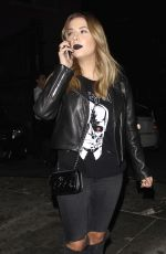 ASHLEY BENSON at Just Jared Halloween Party in Hollywood 10/31/2015