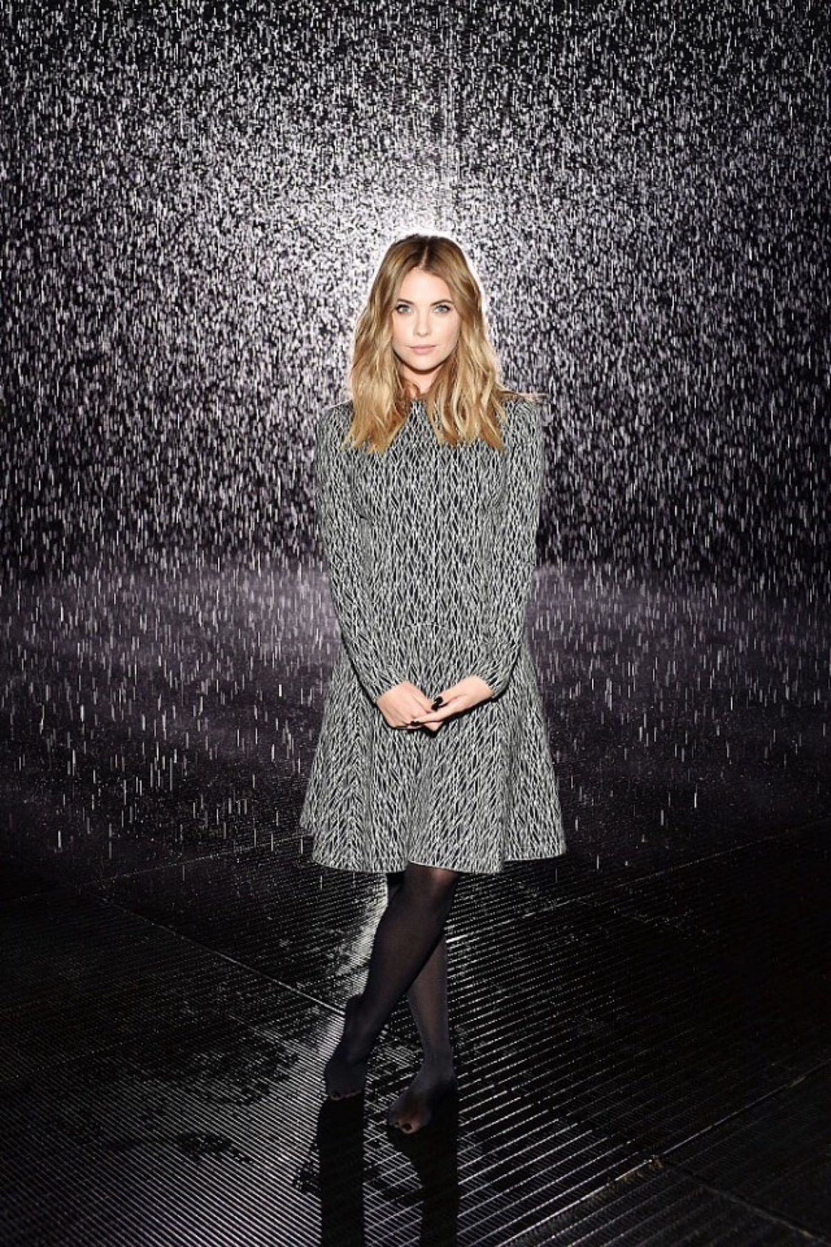 ASHLEY BENSON at West Coast Debut of Rain Room in Los Angeles 10/28/2015