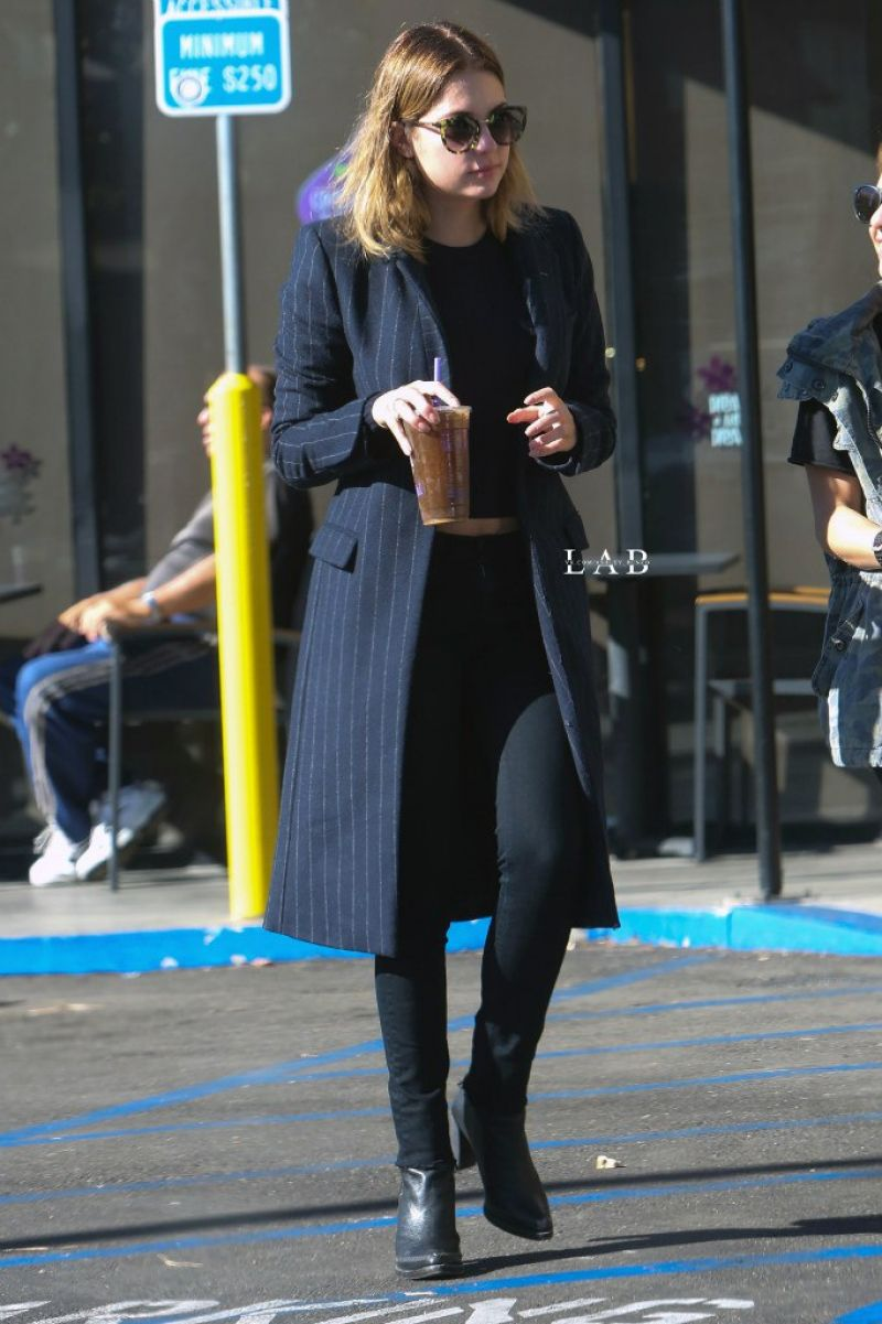 ASHLEY BENSON Leaves Coffee Bean in Los Angeles 11/20/2015