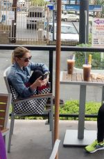 ASHLEY BENSON Ou and About in West Hollywood 11/02/2015
