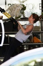 ASHLEY TISDALE Work Out at a Gym 11/23/2015