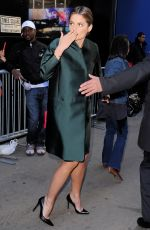 ATANA KATIC Arrives at Good Morning America Studios in New York 11/10/2015