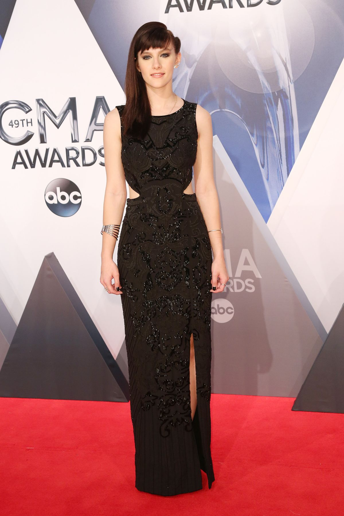 AUBREY PEEPLES at 49th Annual CMA Awards in Nashville 11/04/2015