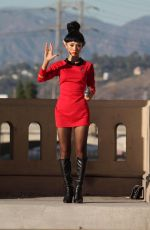 BAI LING as a Starfleet Crew Member in Out in Los Angeles 10/31/2015