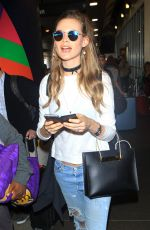 BEHATI PRINSLOO in Ripped Jeans at LAX Airport in Los Angeles 11/04/2015