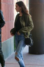 BELLA HADID Arrives at a Studio in Santa Monica 11/25/2015